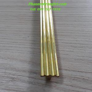 nẹp đồng T10 mm gân,